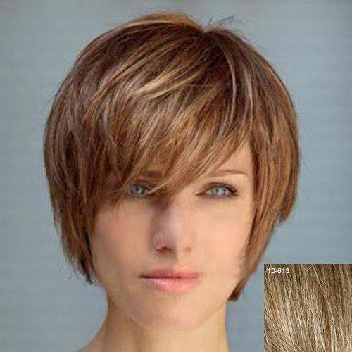 real hair hairstyles : ... wig quinquagenarian wifing female short hair curly hair real hair wig