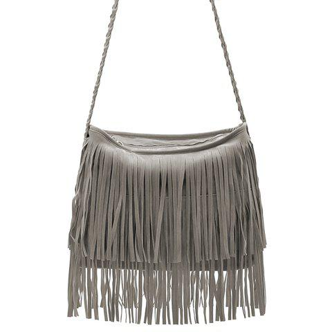 Stylish Weaving and Fringe Design Crossbody Bag For Women fashion women s crossbody bag with fringe and weaving design