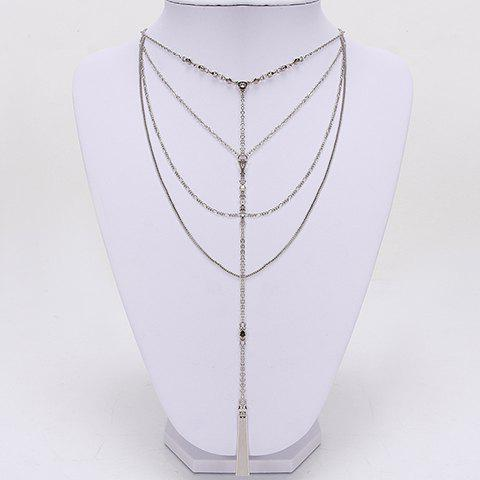 Fashionable Stylish Solid Color Necklace For Women - WHITE GOLDEN