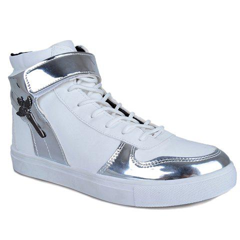 Stylish Splicing and  Design Casual Shoes For Men - WHITE 44