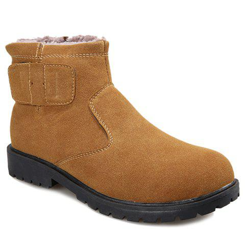Stylish Suede and  Design Boots For Men - BROWN 43