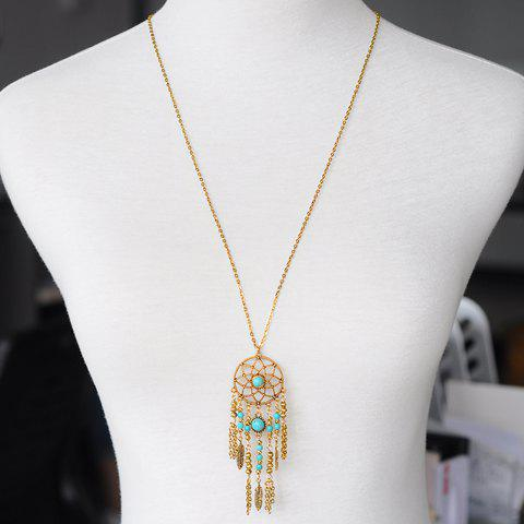 Stylish Chic Hollow Out Tassel Pendant Women's Sweater Chain Necklace