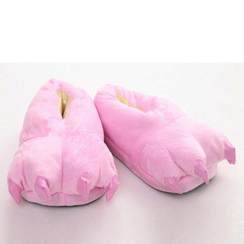 Cute Paw Shape and Suede Design Slippers For Women