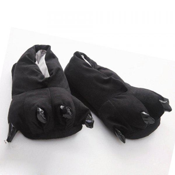 Cute Paw Shape and Suede Design Slippers For Men