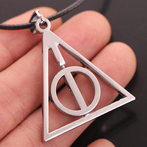 Trendy Harry Potter Luna Lovegood Triangle Pendant Necklace - SILVER