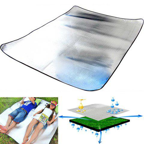200 x 150cm Double-layer Aluminum Film EVA Foam Camping Damp proof Mat Tent Picnic Pad Outdoor Gear - AS THE PICTURE