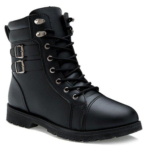 15d2eb79284c6 2019 Stylish Stitching and Double Buckle Design Boots For Men In ...