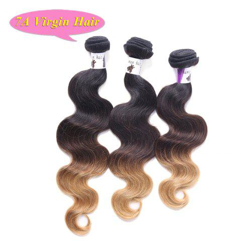 Fashion 7A Vigrin Hair Three Color Gradient 3 Pcs/Lot Body Wave Brazilian Hair Weave For Women - OMBRE 1211 16INCH*18INCH*20INCH