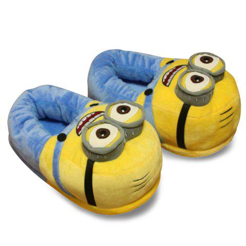 Sweet Cartoon and Color Block Design Slippers For Women - YELLOW ONE SIZE (35-39)