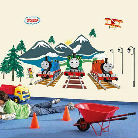 Creative DIY Train Pattern Home Decoration Decorative Wall Stickers - COLORMIX