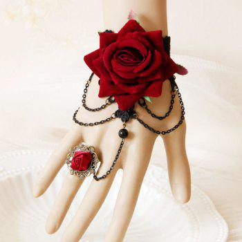 Baroque Style Flower Design Bracelet