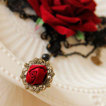 Baroque Style Flower Design Bracelet - RED