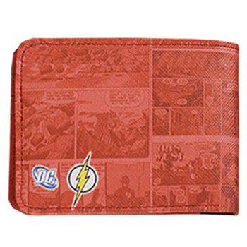 Stylish Super Hero and PU Leather Design Wallet For Men -  WATERMELON RED