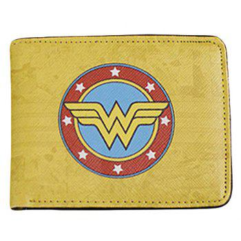 Stylish Super Hero and PU Leather Design Wallet For Men - YELLOW YELLOW