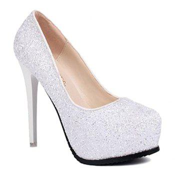 Sexy Sequined and Sexy High Heel Design Women's Pumps