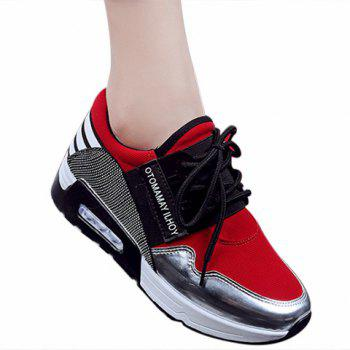 Fashionable Colour Block and Splicing Design Athletic Shoes For Women