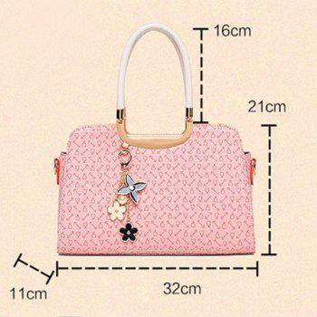 Trendy Piggy Pendant and Arrow Print Design Tote Bag For Women -  BROWN