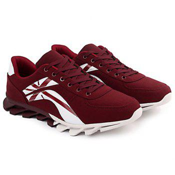 Fashionable Cross and Color Block Design Athletic Shoes For Men - 44 44