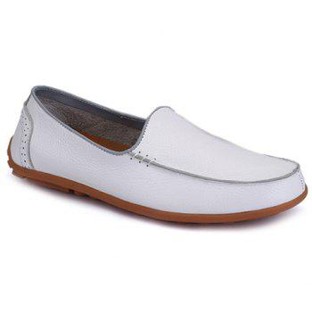 Stylish Engraving and Solid Color Design Loafers For Men