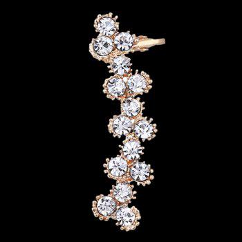 ONE PIECE Flower Rhinestoned Ear Cuff - WHITE GOLDEN