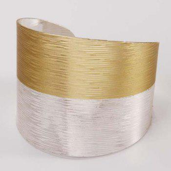Color Block Cuff Bracelet - GOLDEN