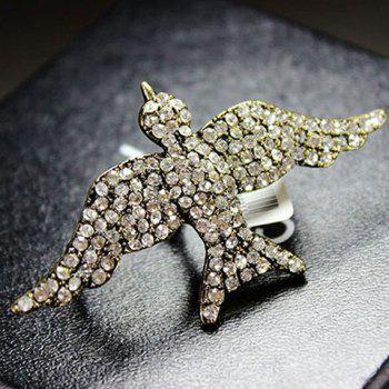Exaggerate Chic Rhinestone Decorate Bird Shape Finger Ring For Women