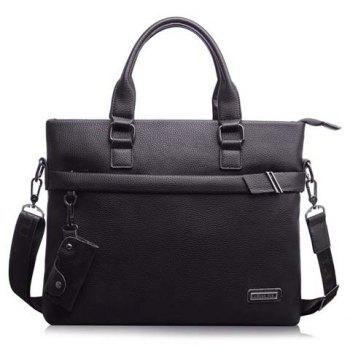 Stylish Key Bag and PU Leather Design Briefcase For Men