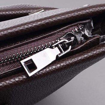 Stylish Key Bag and PU Leather Design Briefcase For Men - BLACK