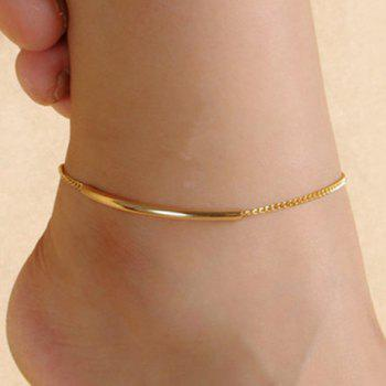 Trendy Solid Color Glazed Bent Tube Foot Leg Anklet