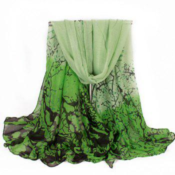 Chic tree branch ink pattern women 39 s voile scarf green in scarves dres - Voile d ombrage camouflage ...