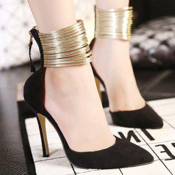 Sexy Pointed Toe and Ankle Wrap Design Pumps For Women - 38 38