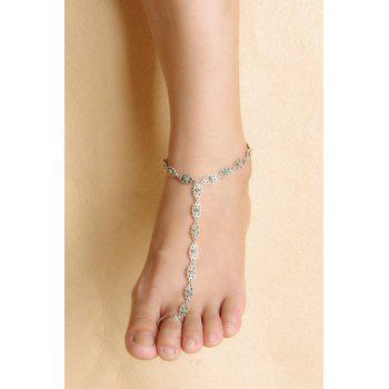 Vintage Hollow Out Flower Anklet
