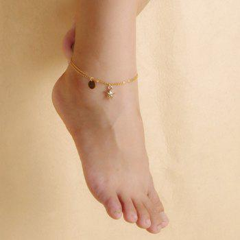 Stylish Chic Solid Color Double-Layer Fancy Anklets