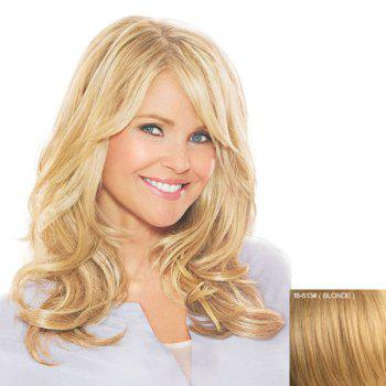 Bouffant Wavy Stylish Long Side Bang Capless Human Hair Women's Wig