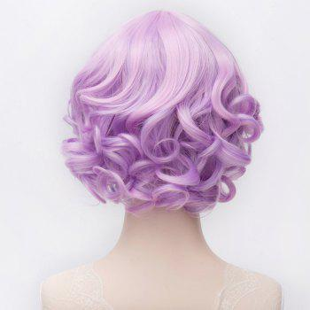 Lolita Style Purple Mixed Capless Sweet Middle Part Synthetic Short Curly Wig For Women - COLORMIX