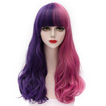 Fashion Doll Style Harajuku LolitaLong Fluffy Wavy Full Bang Splicing Synthetic Cosplay Wig For Women