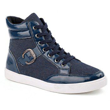 Stylish Splicing and Buckle Design Boots For Men
