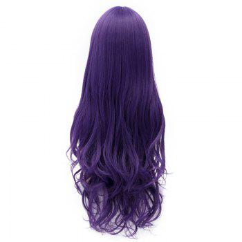 Nozomi Tojo Layered Towheaded Wave Long Inclined Bang Charming Purple Cosplay Wig - PURPLE