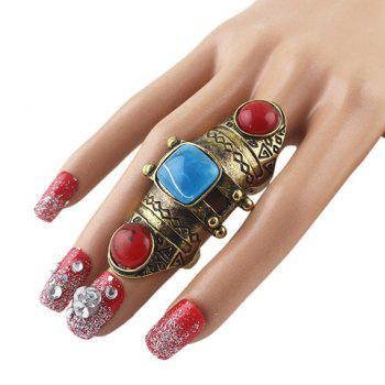Vintage Faux Gem Knuckle Ring