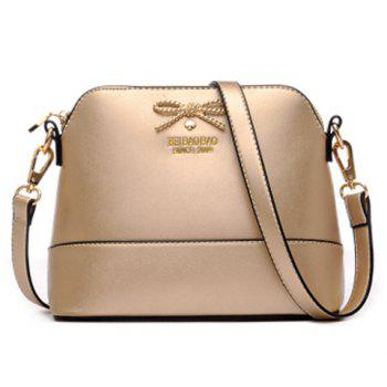 Elegant Bow and PU Leather Design Women's Crossbody Bag