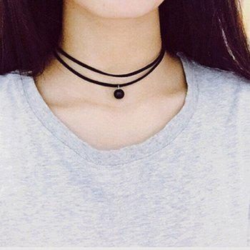 Double-Layered Bead Choker Necklace