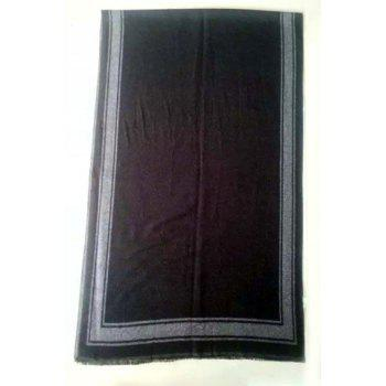 Stylish Frame Pattern Fringed Men's Scarf - BLACK BLACK