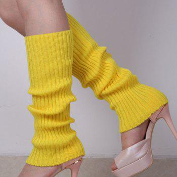 Pair of Chic Candy Color Women's Knitted Leg Warmers -  COLOR ASSORTED