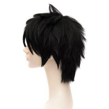 Big Hero 6 Hiro Fluffy Natural Straight Trendy Anti Alice Hair Short Inclined Bang Black Cosplay Wig - BLACK