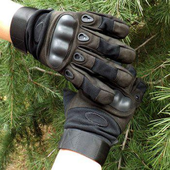 Pair of Stylish Rubber Embellished Tactical Outdoor Sport Gloves For Men