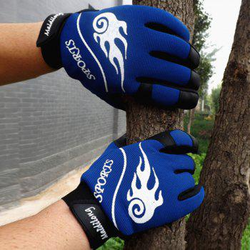 Pair of Stylish Cartoon Flame and Letters Pattern Outdoor Gloves For Men