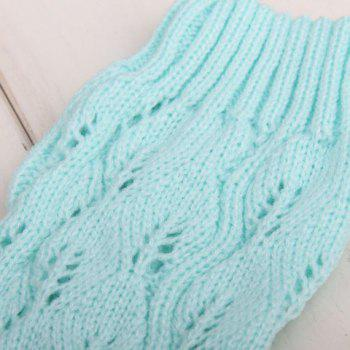 Pair of Chic Lace Edge Openwork Women's Knitted Leg Warmers - COLOR ASSORTED