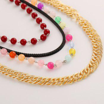 Bead Layered Necklace - COLORMIX