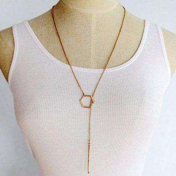 Hollow Out Geometric Bar Pendant Necklace