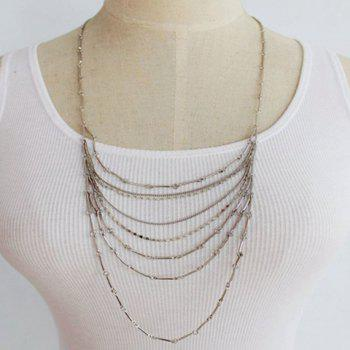 Delicate Bamboo Joint Chain Layered Necklace For Women